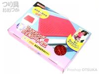 サニー商事 フィッシングジェルシート - ミニ #限定カラー レッド サイズ 340×240×35mm
