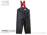 クラフテルフィッシャーマン レインウェア- - 前開胸付ズボン #ブラック サイズL