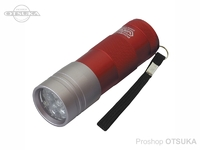VICEO 強力UVハンディライト12灯 - VC202 #レッド/ホワイト 全長94mm 直径30mm 単4X3本別売り