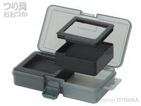プロックス ツインベイトボックス - PX421MK #スモークブラック サイズ161×91×31mm