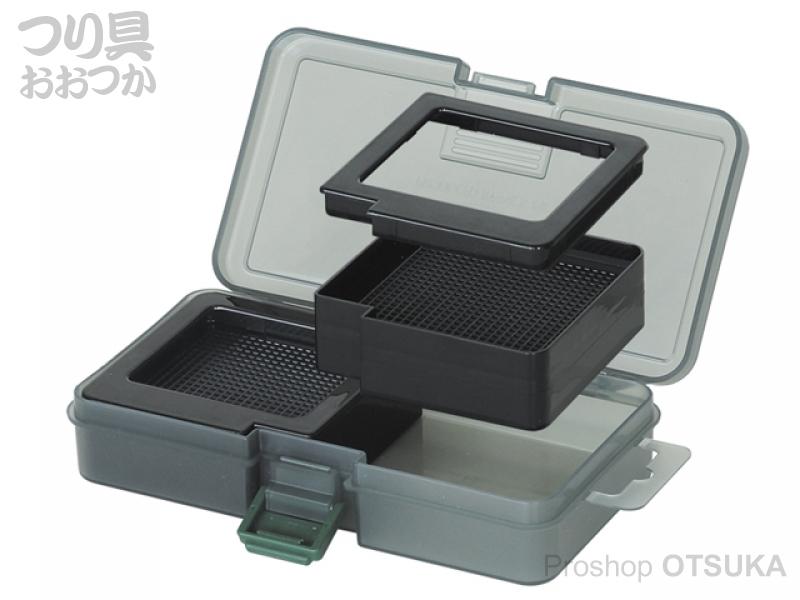 プロックス ツインベイトボックス PX421MK サイズ161×91×31mm  #スモークブラック