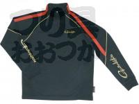 がまかつ コカゲ ジップシャツ - GM-3384 #ブラック LLサイズ