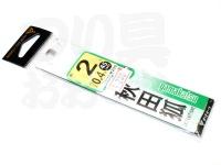 がまかつ 秋田狐 - 糸付  茶 2号 ハリス0.4号45cm