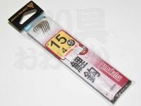 がまかつ 鯉鈎 - 糸付  茶 鈎15号-ハリス4号45cm