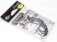 がまかつ ワームフック - ワーム321 バルキースタイル #ブラック 4/0