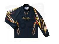がまかつ 2ウェイプリントジップシャツ 長袖 - GM-3474 # ブラック Lサイズ