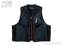 がまかつ フィッシングベスト - GM-2315 # ブラック 3Lサイズ