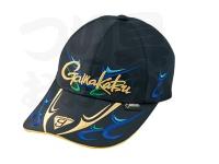 がまかつ ゴアテックスロングバイザーキャップ - GM-9819 #ブラック/ブルー LLサイズ