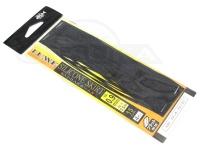 がまかつ シリコンスカート -  フラット #ブラック/ブルーラメ 幅0.9mm厚さ0.5mm