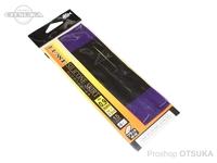 がまかつ シリコンスカート -  フラット #ブラックパープルティップ/ブルーラメ 幅0.9mm厚さ0.5mm