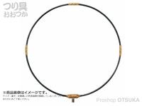 がまかつ 磯タモ枠 - GM-835 #ブラック/ゴールド 50cm 四折り ジュラルミン製