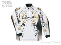 がまかつ 2ウェイプリントシャツ 長袖 - GM-3531 #ホワイト Mサイズ