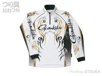 がまかつ 2ウェイプリントシャツ 長袖 - GM-3531 #ホワイト Lサイズ