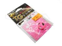 がまかつ 桜幻 鯛ラバーQ - TGシンカー #15 ピンク/グロースポット 60g