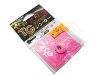 がまかつ 桜幻 鯛ラバーQ - TGシンカー #15 ピンク/グロースポット 80g