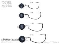 がまかつ ジョイントノッカー - オフセット #ブラック 5g フックサイズ#4