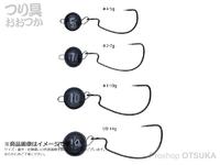 がまかつ ジョイントノッカー - オフセット #ブラック 10g フックサイズ#1