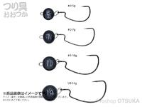 がまかつ ジョイントノッカー - オフセット #ブラック 14g フックサイズ#1/0