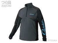 がまかつ ノーフライゾーンジップシャツ - GM-3550 #グレー サイズLL