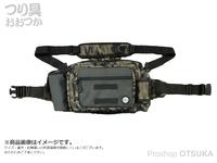 がまかつ ランガンヒップバッグ - LE302 #カモブラック タテ22×ヨコ35×マチ15cm