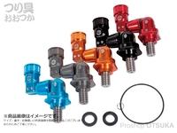 がまかつ ランディングネットジョイント - LE-800 #04 オレンジ 素材:アルミニウム、ステンレス 重量:約118g
