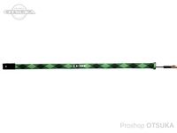 がまかつ ラグゼ ロッドソックス - LE-200 #ブラック/ライム ベイトタイプ 150×3.5cm