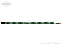 がまかつ ラグゼ ロッドソックス - LE-202 #ブラック/ライム ワイドタイプ150×6.5cm