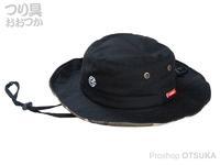 がまかつ ポッタブルアウトドアハット - LE9004 #ブラック フリーサイズ