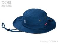 がまかつ ポッタブルアウトドアハット - LE9004 #ジャスティスブルー フリーサイズ