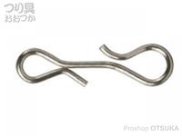 がまかつ 宵姫 - スリットスナップ #シルバー サイズ#S 強度3.8kgf 重量0.03g