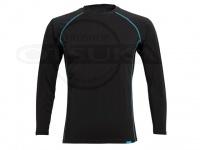 リベルタ フリーズテック - 冷却インナーシャツ長袖 クルーネック #ブラック Mサイズ