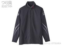 ダイワ スペシャル ウィックセンサー フルジップ長袖メッシュシャツ - DE-72020 #ブラック XLサイズ