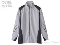 ダイワ スペシャル ウィックセンサー フルジップ長袖メッシュシャツ - DE-72020 #ホワイト 2XLサイズ