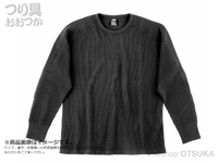 ダイワ サーマルワッフル - DE-65009 #ブラック Lサイズ