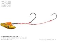 ダイワ 紅牙 - 遊動テンヤSSラトルダンス #ケイムラ オレンジ/金 6号