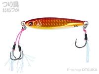 ダイワ ソルティガ - CVジグSLJ #PH赤金グローベリー 7.6cm 60g