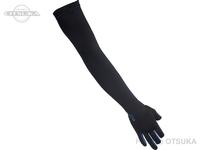 ダイワ UVカットロンググーロブ 3本カット - DG-7821 #ブラックブルー Mサイズ