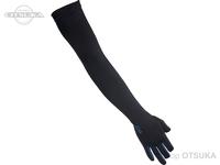 ダイワ UVカットロンググーロブ 3本カット - DG-7821 #ブラックブルー Lサイズ