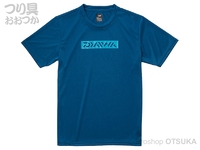 ダイワ ショートスリーブボックスロゴティーシャツ - DE-8621 #マリンブルー Mサイズ