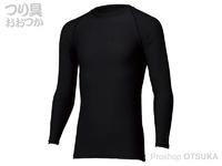 ダイワ アイスドライ クルーネックアンダーシャツ - DU-6021S #ブラック XLサイズ