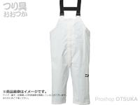 ダイワ PVCオーシャンサロペットレインパンツ - DR-9321P #ホワイト 2XLサイズ