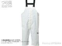 ダイワ PVCオーシャンサロペットレインパンツ - DR-9321P #ホワイト 3XLサイズ