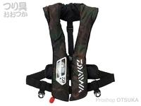 ダイワ ウォッシャブルライフジャケット - DF-2021 # グリーンカモ フリーサイズ  タイプA