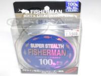 フィッシャーマン ショックリーダー - スーパーステルス   100lb (28号)