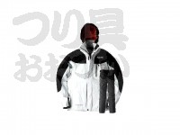 オレンジブルー レインスーツ - MZ ゲームフィッシング ブラック/ライトグレー サイズ L