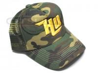 ハイドアップ メッシュキャップ - HU-SLMC刺繍ロゴ #03 カモ/イエロー フリーサイズ