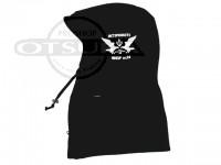ハイドアップ ネックウォーマー - フード スウェット #02 ブラック フリーサイズ