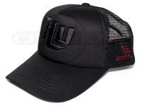 ハイドアップ メッシュキャップ - HU-SLMC刺繍ロゴ #06 ブラック/ブラック