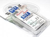 アイビーライン シングルフック - アイビーライン マンティスフック #カ-ボンブラック #8 100本入り