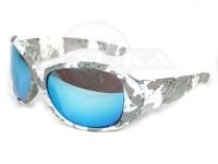 LSDデザイン LSDアイウェア - Dフライマン フレーム:スノーカモ レンズダイアモントホワイトブルー